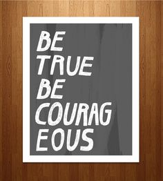 Be True Art Print by sewindieshop on Scoutmob Shoppe. A hand-lettered quote with an oh-so positive message, on a textured background.