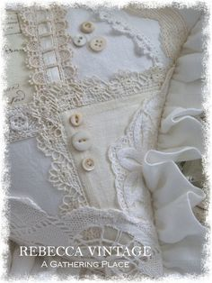 A Gathering Place Crazy Patchwork, Patchwork Pillow, Quilted Pillow, Applique Quilts, Antique Lace, Vintage Lace, Shabby Chic Cushions, Pillos, Linens And Lace