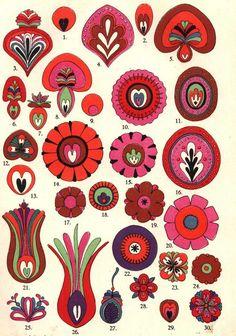 Cross Stitch Kit, Scenery, Four Seasons Rich Tree DIY Needlework Handmade Embroidery Home Room Dcor - Embroidery Design Guide Hungarian Embroidery, Folk Embroidery, Folk Art Flowers, Flower Art, Painting Inspiration, Art Inspo, Bordado Popular, Polish Folk Art, Tole Painting
