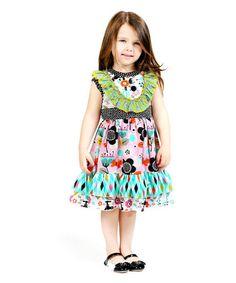 Another great find on #zulily! Aqua Printemps Parker Dress - Infant, Toddler & Girls #zulilyfinds