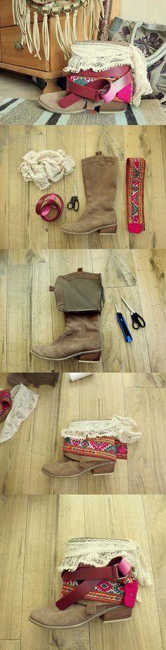 Botas Bohemian DIY | adicionar um toque minúsculo para Carregadores velhos