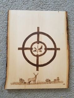 A deer hunting themed wood burning I did as a Christmas Present.