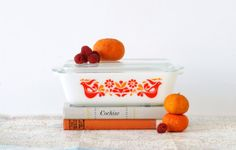 Pyrex Friendship Refrigerator Dish with Lid  Red by alivingspace, $32.00
