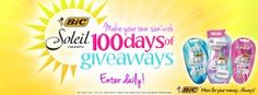 BIC Soleil Make Your Own Sun 100 Days of Giveaways - Coupon Clipinista