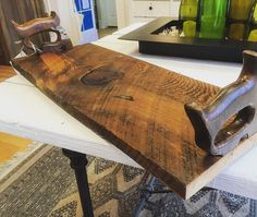 Serving tray made from 200 year old #reclaimed pine and #salvaged saw handles. Available now in the @hudsonvalleymac store! #make #maker #upcycle #upcycled #upcycling #interiordesign #rustic #repurpose #repurposed #reclaim #vintage #oldtools #salvage #diy #beaconNY #handmade #HVMAC #hudsonvalley #wood #woodworker #woodworking #Imake #iliketomakestuff by keithdecent