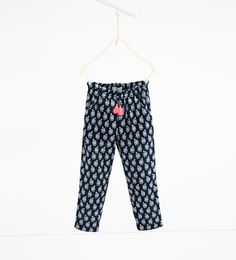 Image 2 de Pantalon en tissu de laine fin de Zara