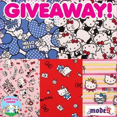 Hello Kitty fabrics giveaway hosted by Supercutekawaii and Modes4u