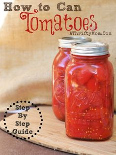 How to can Tomatoes, a step by step guide on how to can tomatoes #canning…