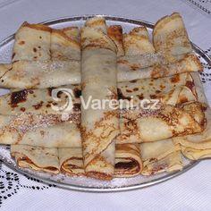 Vynikající palačinky recept - Vareni.cz Hungarian Recipes, Healthy Recipes, Healthy Food, Vitamins, Food And Drink, Cooking, Cake, Ethnic Recipes, Healthy Foods
