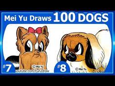 CUTE Bulldog - Mei Yu Draws 100 Dogs #2 - 100 Drawings CHALLENGE - Fun2draw - YouTube