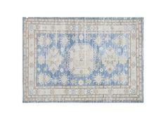 "#17243 Origin:Afghanistan Design:Geometric Size:4' 9"" x 6' 6"" Sqft:30.88′ Color:Blue"