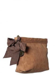 Iguana Print Nappa Leather Clutch