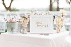 Pink Lemonade Wedding Signage • Handlettered by Laura Fraser