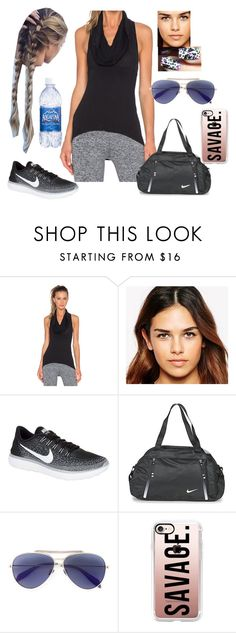 """""""Bez tytułu #18045"""" by sophies18 ❤ liked on Polyvore featuring Koral Activewear, OPI, ASOS, NIKE, Alexander McQueen and Casetify"""