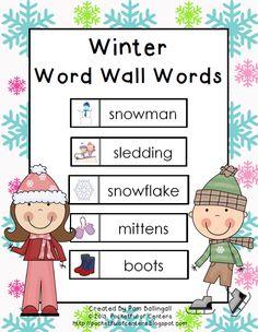 Winter Word Wall Words {Freebie}