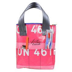 Fab.com | Pink Times Utility Tote $50 ~ TEN external pockets! How handy could it be?!