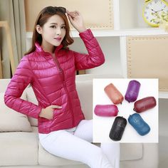 2016 winter Down Jackets women slim short Stand collar ultra light coat feminine slim down jacket feminine Outwear large size