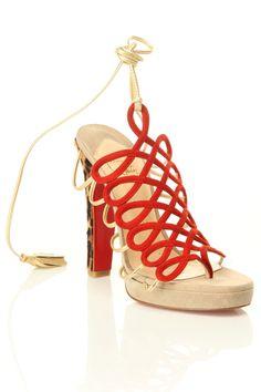 Lace up heels. Divine.