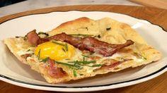 La pizza oeuf et bacon - Recettes - À la di Stasio