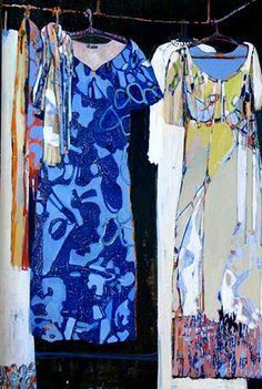 Cult Of ( Fashion )Personality: A Conversation With Christina Foard Laundry Art, Dress Painting, Still Life Art, Gcse Art, Art Sketchbook, Collage Art, Illustration Art, Illustrations, Art Lessons