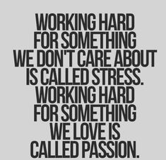 stress versus passion