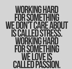 stress versus passion