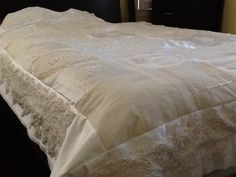 Wedding dress quilt, the dress was 40 yrs old great memories! - 24 Blocks