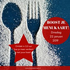 Op 22/01/2019 organiseren we een Boost je menukaart workshop. Als je echt meer wilt verdienen met je menukaart geef je dan op via info@concreetadvies.info Christmas Ornaments, Holiday Decor, Christmas Jewelry, Christmas Decorations, Christmas Decor