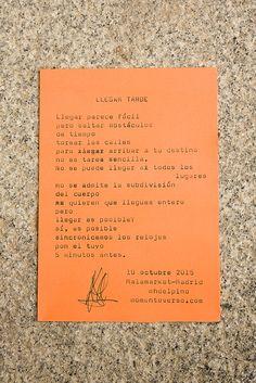 https://flic.kr/p/yMKr8C | Poema por María Helena del Pino | Malamarket 10/10/2015