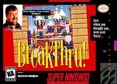 BreakThru (Super Nintendo) (Pre-Played - Game Only) Super Nintendo Games, Think Fast, Time Running Out, Knock Knock, Games To Play, Thinking Of You, Rockets, Spiders, Soda