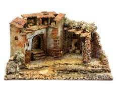 Casas Clay Fairy House, Medieval Houses, Clay Fairies, Christmas Nativity, Christmas Pictures, Diorama, Nativity Scenes, Wood, Crafts