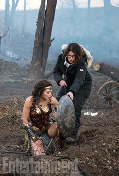 'Wonder Woman': Exclusive New Photos of Gal Gadot's Superhero Movie | Gal Gadot and director Patty Jenkins | EW.com