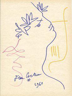 Cocteau, Jean (1889-1963) Orpheus Date: 1960 Movement: Ecole de Paris Theme: Mythology Technique: Coloured pencil Museum: Private collection Location: France