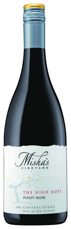 "Misha's Vineyard ""The High Note"" Pinot Noir - named after Misha's opera singing mother! Rated as one of Central Otago's best Pinot Noirs"