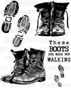 Ben's Boots - Art Journey
