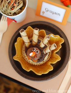 DIY Turkey Cupcakes as featured in The Party Dress Magazine