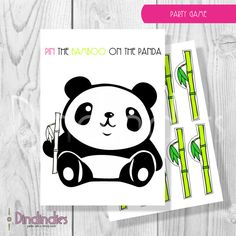 Instant Download - Panda Theme Birthday Party Game - Pin The Bamboo On The Panda Dindindi, Birthday Parties, Birthdays, Birthday Idea, Painting Kid Birthday Party, Paint Parti, Birthday Themes, Panda Birthday, Parti Idea