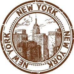 "New York, Etats-Unis Ville Voyage Grunge Stamp voiture Autocollant Decal 5 ""x 5"": Amazon.ca: Maison & Cuisine"