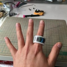 3ders.org - Ring it up: 3D print your own ATtiny 85 ring watch | 3D Printer News & 3D Printing News