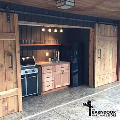 Isn't this outside kitchen area an absolute dream?! I would grill every meal if…