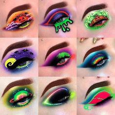 Crazy Eye Makeup, Edgy Makeup, Makeup Eye Looks, Creative Makeup Looks, Colorful Eye Makeup, Eye Makeup Art, Crazy Eyeshadow, Fun Makeup, Makeup Ideas