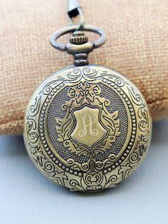 Brass Mens Pocket Watch,Mechanical Pocket Watch,Steampunk Pocket Watch,Pocket Watch Chain,Groom Gift,Groomsmen Gift