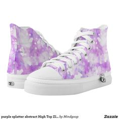 purple splatter abstract High Top ZIPZ Shoes Printed Shoes
