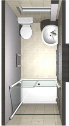 3D image of ensuite shower room design from above