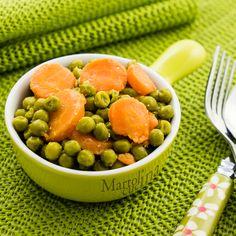 CAROTE E PISELLI #carote #piselli #contorno #verdure #ricettafacile #ricettaveloce