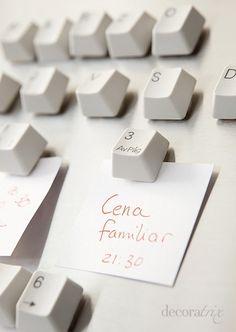 DIY idea :: Turn Spare Keyboard Keys Into Fridge Magnets