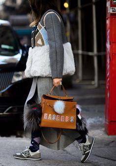 The 10 Street Style Trends Everyone Wore in 2015 - Anya Hindmarch's Sticker Bags and Stickers