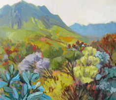 Jonkershoek Fynbos- Right on my back porch South African Artists, Biomes, Urban Landscape, Art Pictures, Picture Frames, Floral, Artwork, Nature, Flowers