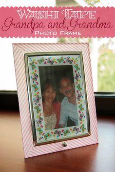 TitiCrafty by Camila: Grandma and Grandpa DIY Washi Tape Photo Frame