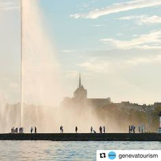 Dans l'ombre du Jet d'eau de Genève. In the shadow of the Jet d'eau in Geneva Merci @genevatourism